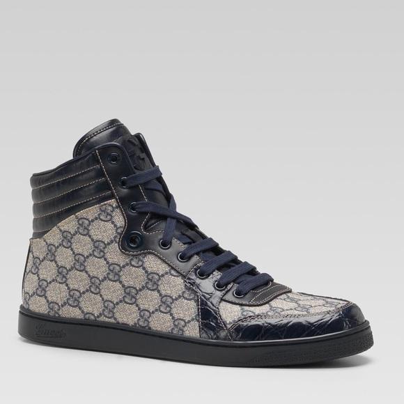 9b08c077561 Gucci Crocodile Skin High Tops
